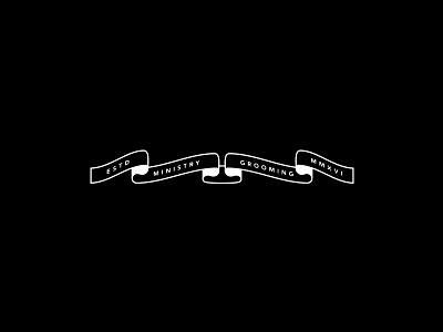 Ministry Banner oil beard barbershop grooming design branding logo