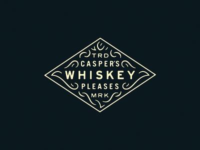 Casper's Whiskey design badge whiskey casper