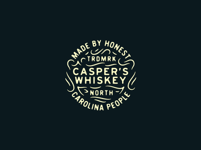 Casper's Whiskey Alternative design badge whiskey casper