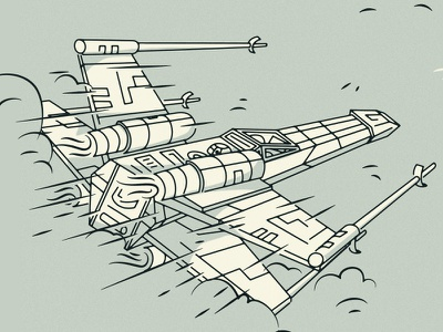 Rogue One x-wing one rogue design graphic illustration wing x wars star