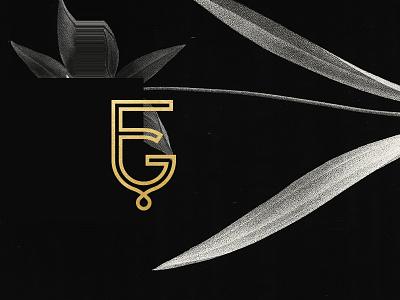 FG Monogram honey floral flower gold foil design monogram branding