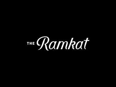 The Ramkat Primary Logo design ramkat script branding logo logotype