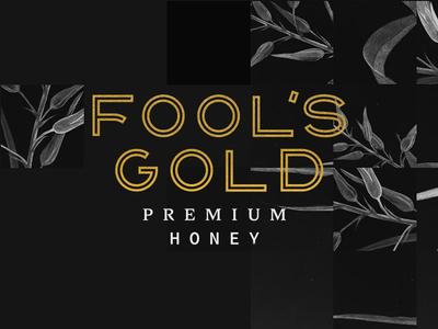 Fool's Gold Premium Honey typography honey design graphic branding logo