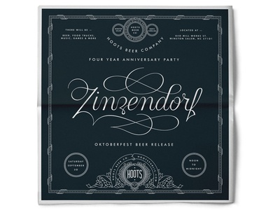 Zinzendorf Newspaper Ad oktoberfest beer graphic print lettering design ad newspaper