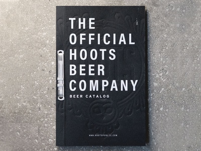 Hoots Beer Catalog branding design binding owl hoots beer letterpress booklet print catalog