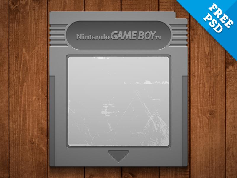 Gameboy Cartridge - FREE PSD free psd nintendo gameboy cartridge gaming resource