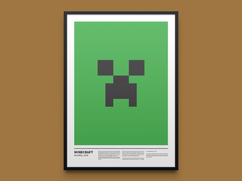 Minecraft Minimal Print By Gershom Charig On Dribbble