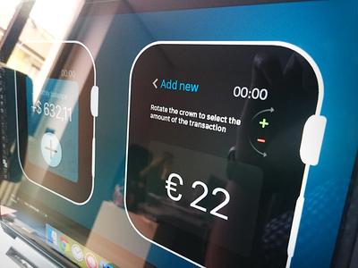 BudJet – Apple Watch concept fintech crown numbers flat money chart ios app finance budget watch wear