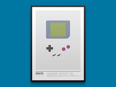 GAME BOY minimal print gaming frame poster print art videogame minimal nintendo console pixel joypad 8bit