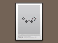 PLAYSTATION minimal print