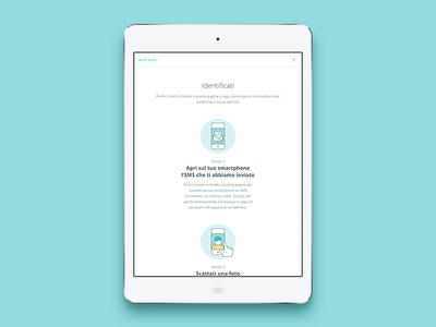 Identification process tutorial fintech tutorial tablet drawing circle icon illustration web instacredit
