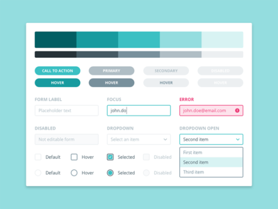 Credimi – Webapp UI Elements fintech webapp palette checkbox form dropdown button style styleguide interface credimi ui