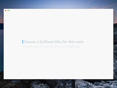 Papermind - New note (empty state) state ui clean minimal app note writing empty title navigation editor text