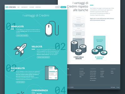 Credimi Website app invoice credimi website interface ui icons illustration background button web