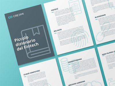 Fintech propaganda text illustration icon free paper brochure book ebook marketing fintech dictionary