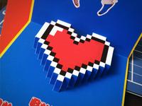 Valentine's Day pixel popup card