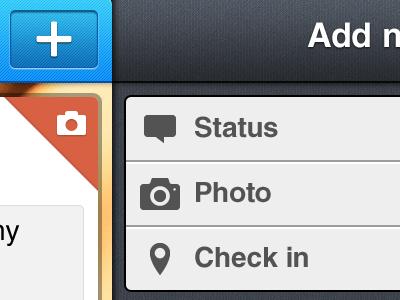 Social App interface (3) ux ui interface header menu client application apple ios app pinterest instagram twitter facebook networks social