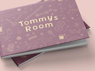 Tommy's room 2 picturebook sewing kidart kid catalog illustration design