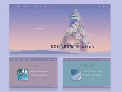 Schneewittchen sky gradient ui aesthetic violet purple girl illustration design