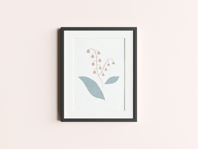suzuran poster flowers illustration design