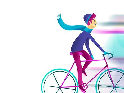 Bicycles girl boy urbansports bicycle mp4 gif adobeaftereffects procreate applepencil ipadpro vectordrawing animatedillustration motiongraphics illustration