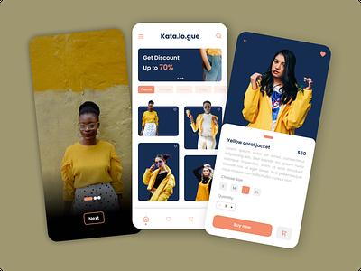 Fashion App Design website design mobile design ux ui design