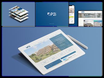 P2I estate web design web design web photoshop figma wireframe wordpress ui web ui