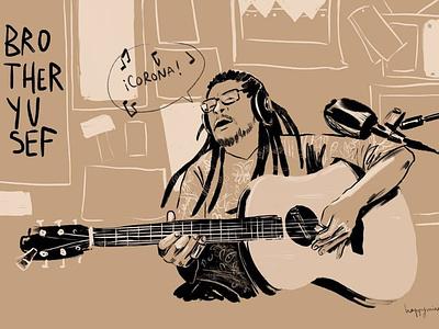 Brother Yusef illustration