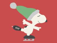 Skating Snoopy