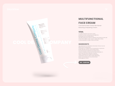 Product page Design makeup webshop ecommerce skincare cosmetics product productpage webdesign