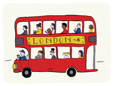 London Bus kids illustration childrens illustration illustration double decker london bus