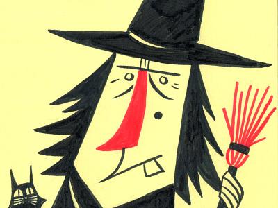 Inktober Witch witch