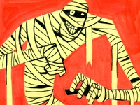 Inktober Mummy