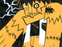 Inktober Frankenstein