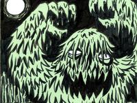 Inktober Swamp Monster