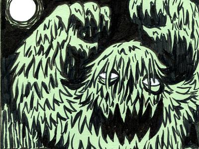 Inktober Swamp Monster swamp monster