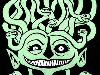 Inktober Medusa medusa