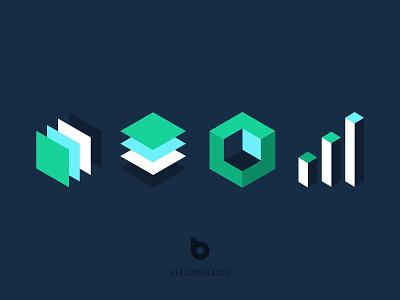 Hellobuild ux ui branding webdesign website elements branding design brand concept interface illustration design