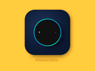 Amazon echo design alexa vector ios icon app echo amazon amazon echo