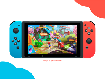 Nintendo Switch - Made In Figma illustration gaming game console figma switch nintendo