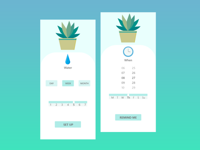 Don't forget about plants:) vector illustration ui app daily007 007 dailyui design