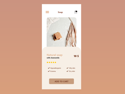 Natural soap :) e-commerce shop 012 app illustration ux ui dailyui design