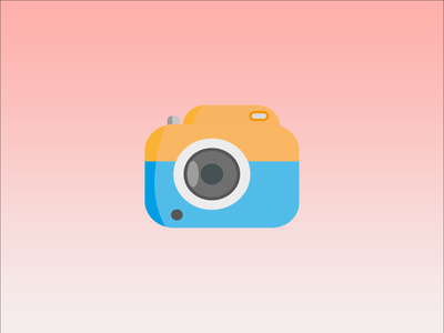 Keep the best memories of your life :) camera photo vector illustration ux ui design