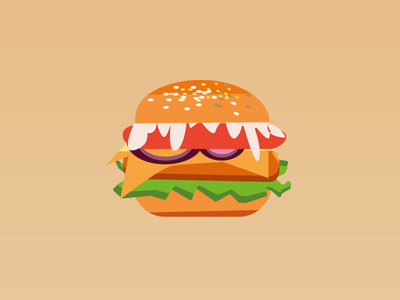 Would you like a delicious burger? burger vector illustration ux ui dailyui design