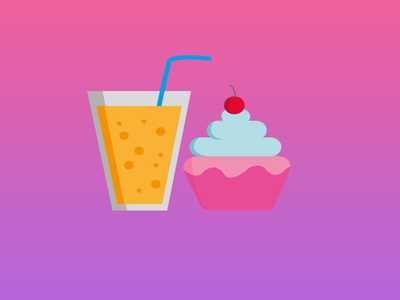 Sweets are never enough :) juice cake vector illustration ux ui dailyui design