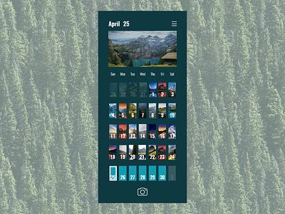 Add a photo to your calendar 038 photoapp photo calendar design calendar app calendar app vector ux illustration ui dailyui design