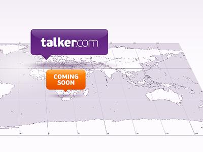 talker.com / coming soon talker.com coming soon logo logotype corporate identity clean worldwide teasing purple orange