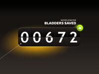 Where2pee / bladders saved counter