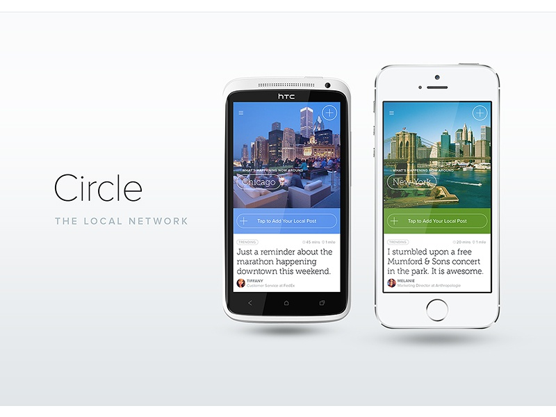 Circle goes White application ui mobile circle photo background iphone android