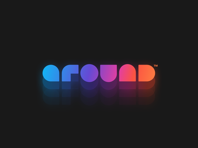 Around / New Logo web minimal design app typography illustration vector branding logo